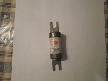 GE RED SPOT 100 AMP TCP10 HRC FUSE LINK